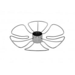 Полка для бокалов круглая центральная стальная Тип-2 Хром